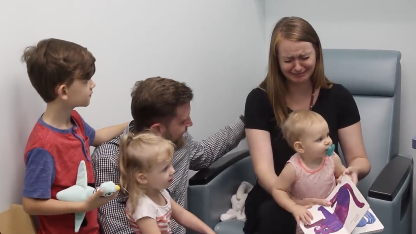 Watch Mom's Reaction When Toddler Hears For The First Time